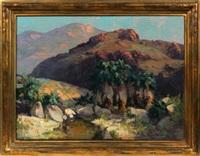 palm spring canyon by franz arthur bischoff
