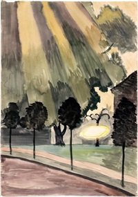 melted frost on shed roof by charles ephraim burchfield