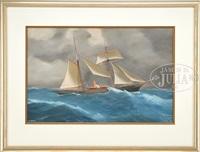 portrait of the steam yacht xarifa by antonio de simone