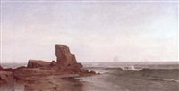 view of plumb gut, long island sound, new york by william huston