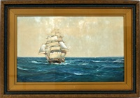 clipper ship at full sail by montague dawson