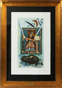 two of swords by salvador dalí
