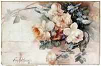 rose still life by franz arthur bischoff