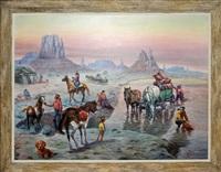 crack at dawn (navajo) by gregory perillo