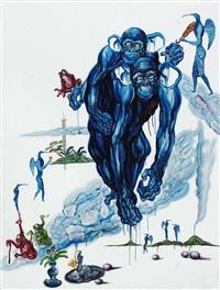 蓝猴系列 by jiang hongguang