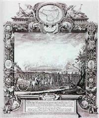 augspurg. ansicht mit belagerung von 1703 by johann august corvinus