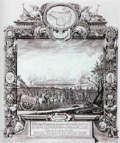 augspurg ansicht mit belagerung von 1703 by johann august corvinus