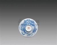 兰料山水斗笠碗 (porcelain bowl) by xu huanwen
