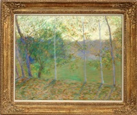 poplars #2 by lilla cabot perry