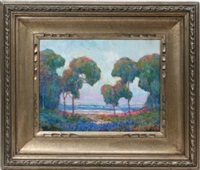landscape with grove of trees by william dorsey