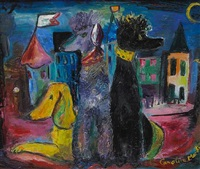 dogs stranded in a city by caroline louise martin