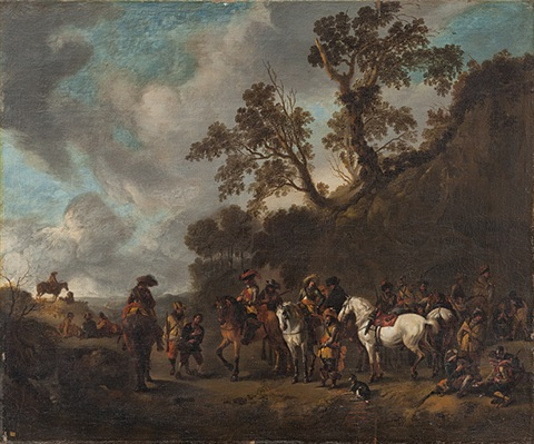 der eingebrachte spion by philips wouwerman