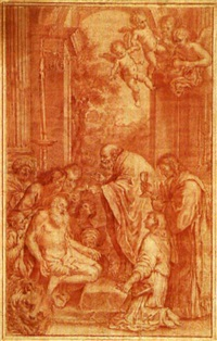 die letzte communion des heiligen hieronymus (after domenchino) by arcangelo foschini