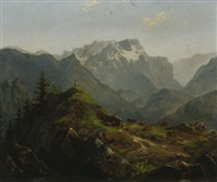 tiroler gebirgslandschaft im sommer by carl august reinhardt