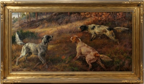 hunting dogs on the scent by edmund henry osthaus
