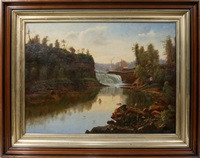 possible lower fall of the genesse river, ny by hudson river school