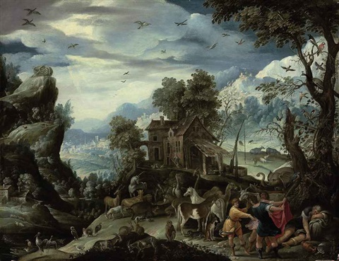 the drunkeness of noah by david teniers the elder