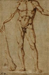 figure of hercules (study) by baccio bandinelli