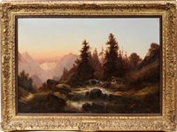 sunset scene by hildegard lehnert
