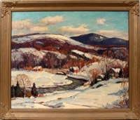 winter in vermont by camillo adriani
