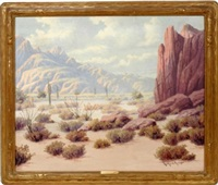 desert scene by richard kruger