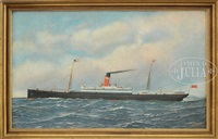 portrait of the steamship commonwealth by antonio jacobsen