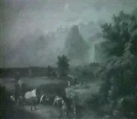western landscape by b. hess