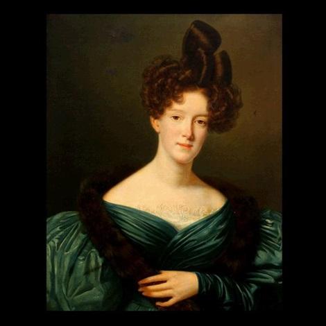 portrait of mrs. samuel bell by jean joseph vaudechamp