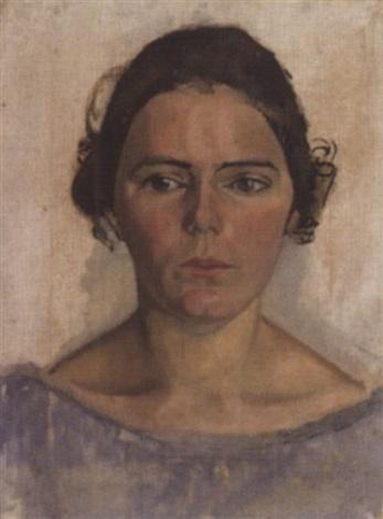 damenporträt en face by august babberger