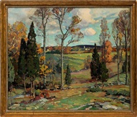 october landscape, cape ann, mass. by aldro thompson hibbard