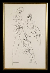 four nude studies by louis kahan