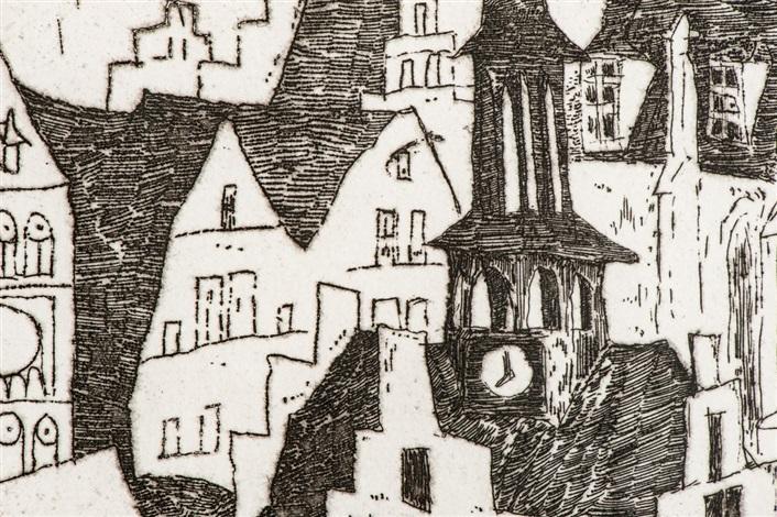 sunrisekleinstadt by lyonel feininger