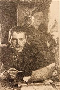 zorn och hans hustru by anders zorn