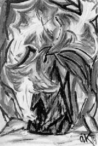 rotblühende lilien by arthur kaufmann
