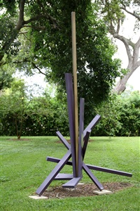 aluminum outdoor sculpture by john raymond henry