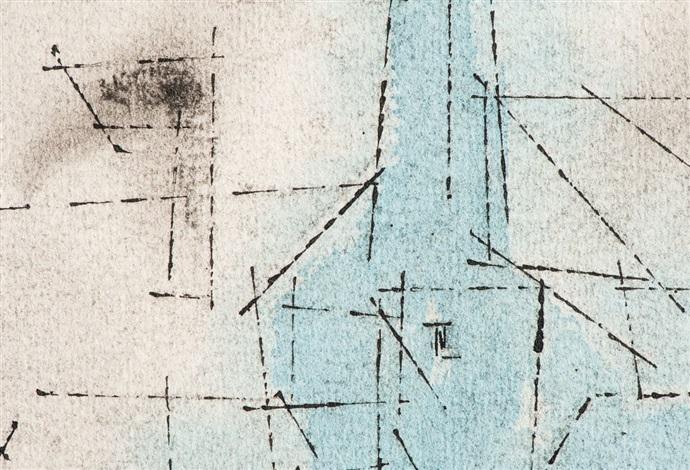 stadtansicht mit kirche by lyonel feininger