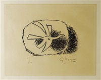 vogel in seinem nest (from août) by georges braque