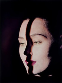 line on face, new york by erwin blumenfeld