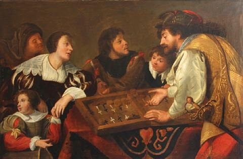 the backgammon players by theodoor rombouts