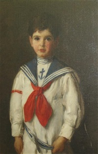 portrait of a young boy in a sailor's costume by louise howland king cox