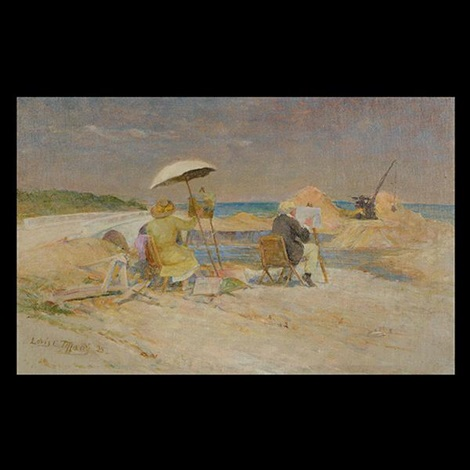 painting on the beach by louis comfort tiffany