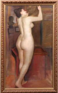standing female nude by french school