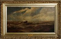 sailboat in rough water by robert hopkin