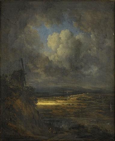 paysage dorage et reflet de soleil by georges michel