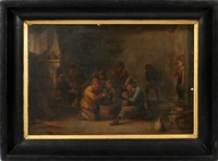 interior scene by david teniers the younger