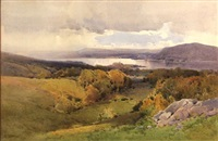 windermere, english lakes by arthur tucker