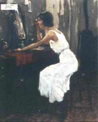 lady in boudoir by henricus gerardus de korte