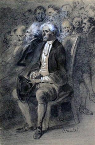 portrait of charles de robinet by nicolas toussaint charlet