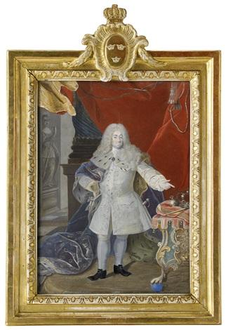 porträtt av kung fredrik i 1676 1751 by niclas lafrensen the elder