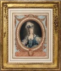 marie antoinette d'autriche by jean françois janinet